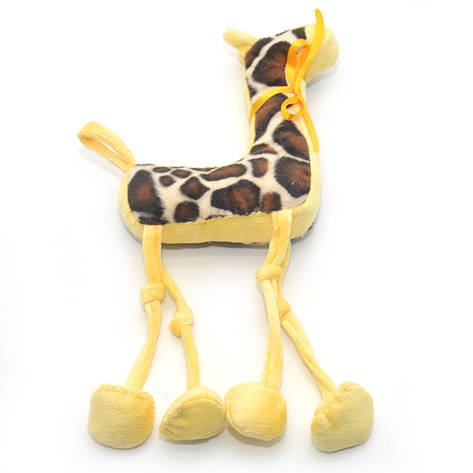 Мягкая игрушка Жираф для собаки желтая, фото 2
