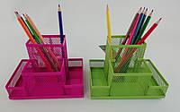 Подставка для ручек Метал. ZB3116-02/07/10/15 Сетка 15*10*10 см ZIBI
