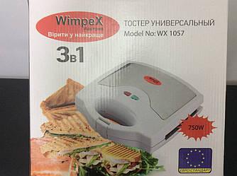 Мультигриль 3 в 1: Вафельница-Сендвичница-Гриль WX-1057 Wimpex чёрный