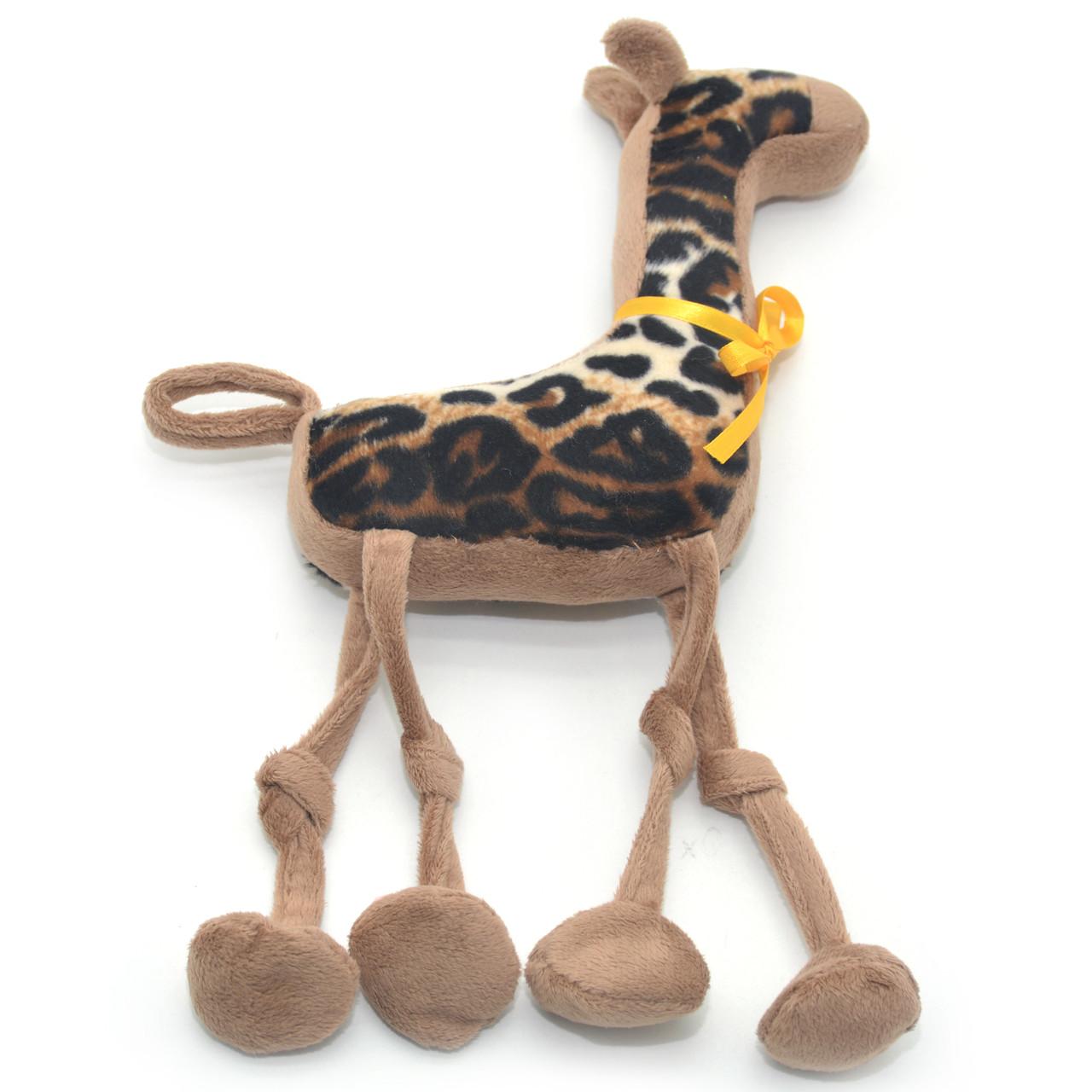 Мягкая игрушка Жираф для собаки коричневая