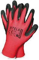 Перчатки защитные Rtela из полиэстера покрытые латексом (упаковка 12 пар),