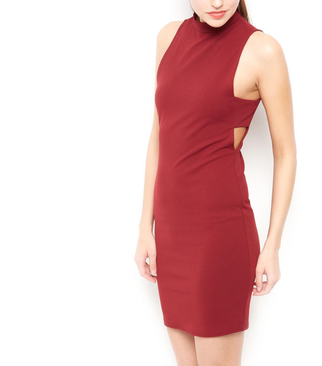 Облегающее платье с вырезами по бокам New Look