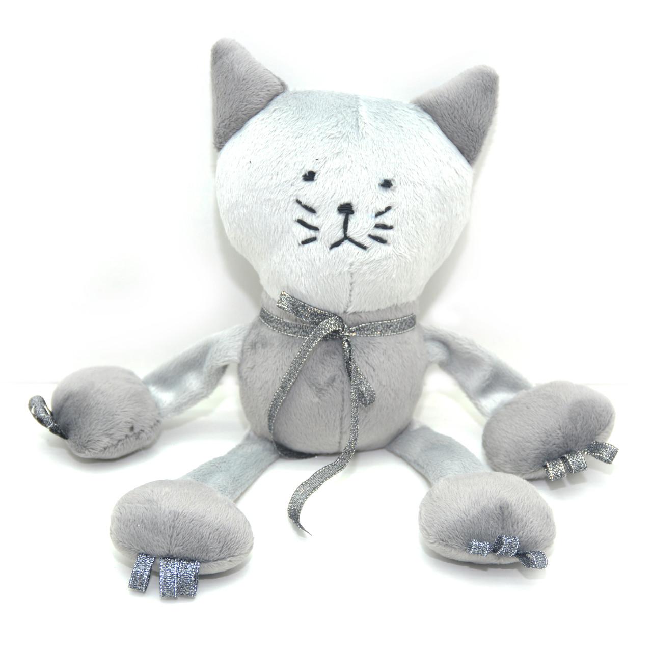 Велюровая игрушка Котик для животных серая