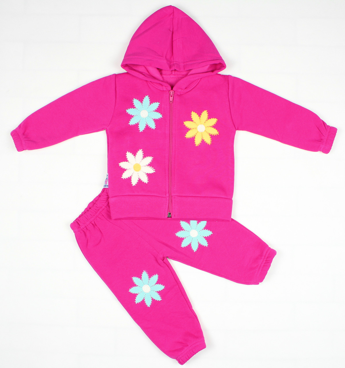 Утепленный костюм 2-ка малиновым цветом для девочки