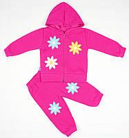 Утепленный костюм 2-ка малиновым цветом для девочки, фото 1