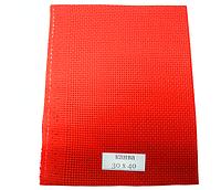 Канва вышивальная (красная, разные размеры, каунт 14):30см х 40см