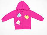 Утепленный костюм 2-ка малиновым цветом для девочки, фото 2