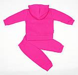 Утепленный костюм 2-ка малиновым цветом для девочки, фото 5