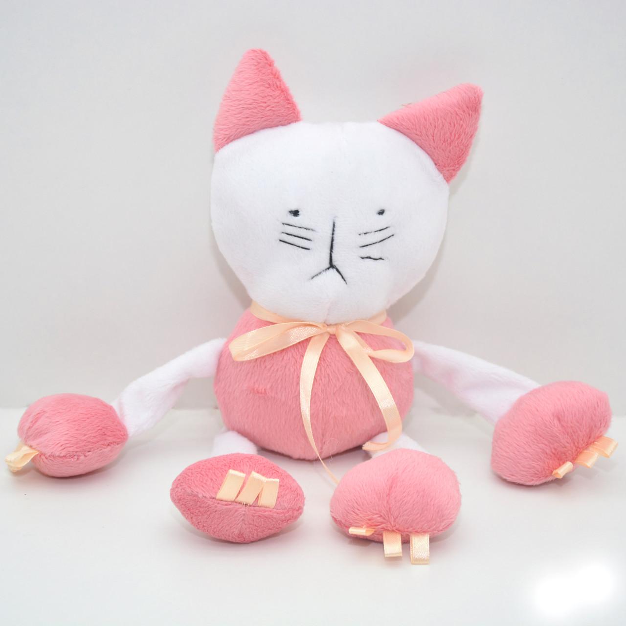 Велюровая игрушка Котик для животных розовая