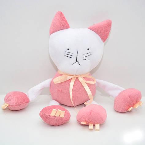 Велюровая игрушка Котик для животных розовая, фото 2