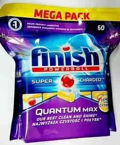 Finish Quantum MAX таблетки для посудомоечных машины Lemon 60 шт.