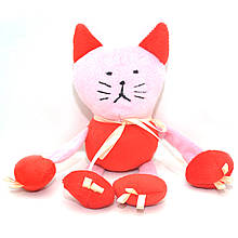 Велюровая игрушка Котик для животных красная