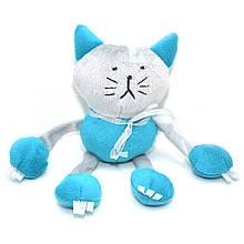 Велюровая игрушка Котик для животных голубая