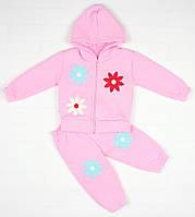 Утепленный костюм 2-ка розовым цветом для девочки, фото 1