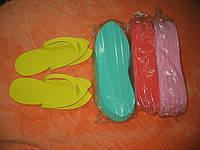 Тапочки-вьетнамки одноразовые( 3мм), плотный полимер, 12 пар/уп