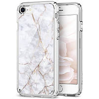 Чехол Spigen для iPhone 8  / 7 Ultra Hybrid 2 Marble, Carrara White, фото 1