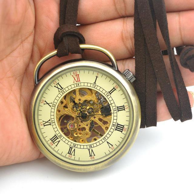 Часы карманные механические на шнурке