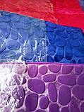 Плюшевый коврик «Галька» синий 50×80 см, фото 6