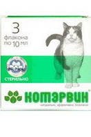 Котэрвин 10 мл № 3 уп. ветеринарный гомеопатический препарат для лечения мочекаменной болезни у котов