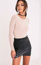 Асимметричная юбка под кожу pretty little thing, фото 2