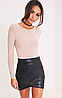 Асимметричная юбка под кожу pretty little thing