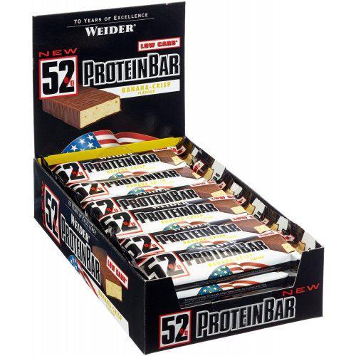 Протеиновые батончики Weider 52% Protein Bar 24х50g