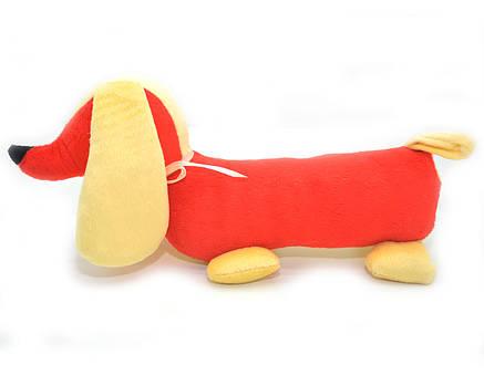 Мягкая игрушка Такса для собак красная, фото 2