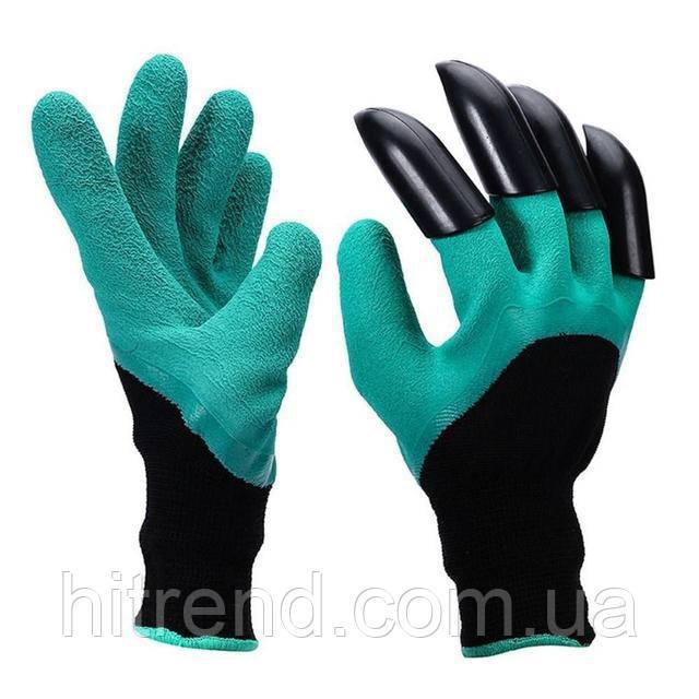 Уникальные и оригинальние Садовые перчатки с когтями для сада Garden Genie Gloves Гарден Джени Гловес