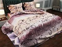 Комплект постельного белья Уютная Жизнь Евро 200x215 Рваные камешки