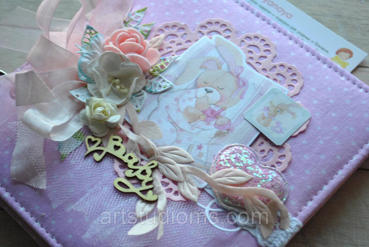 """Книга пожеланий, бебибук, миниальбом 3в1 """"Baby Bany"""" Цвет розовый, фото 1"""