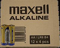 Батарейка MAXELL AA LR-6 4 шт BLISTER,48 шт.(7,50 грн за штуку)