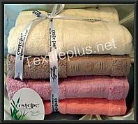 Комплект банных бамбуковых полотенец Cestepe Bamboo four 70*140 Турция