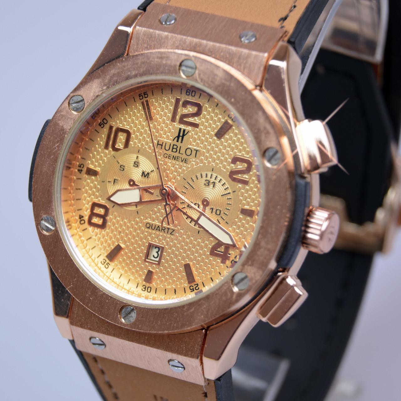 Мужские наручные часы HUBLoT Big Bang Gold календарь