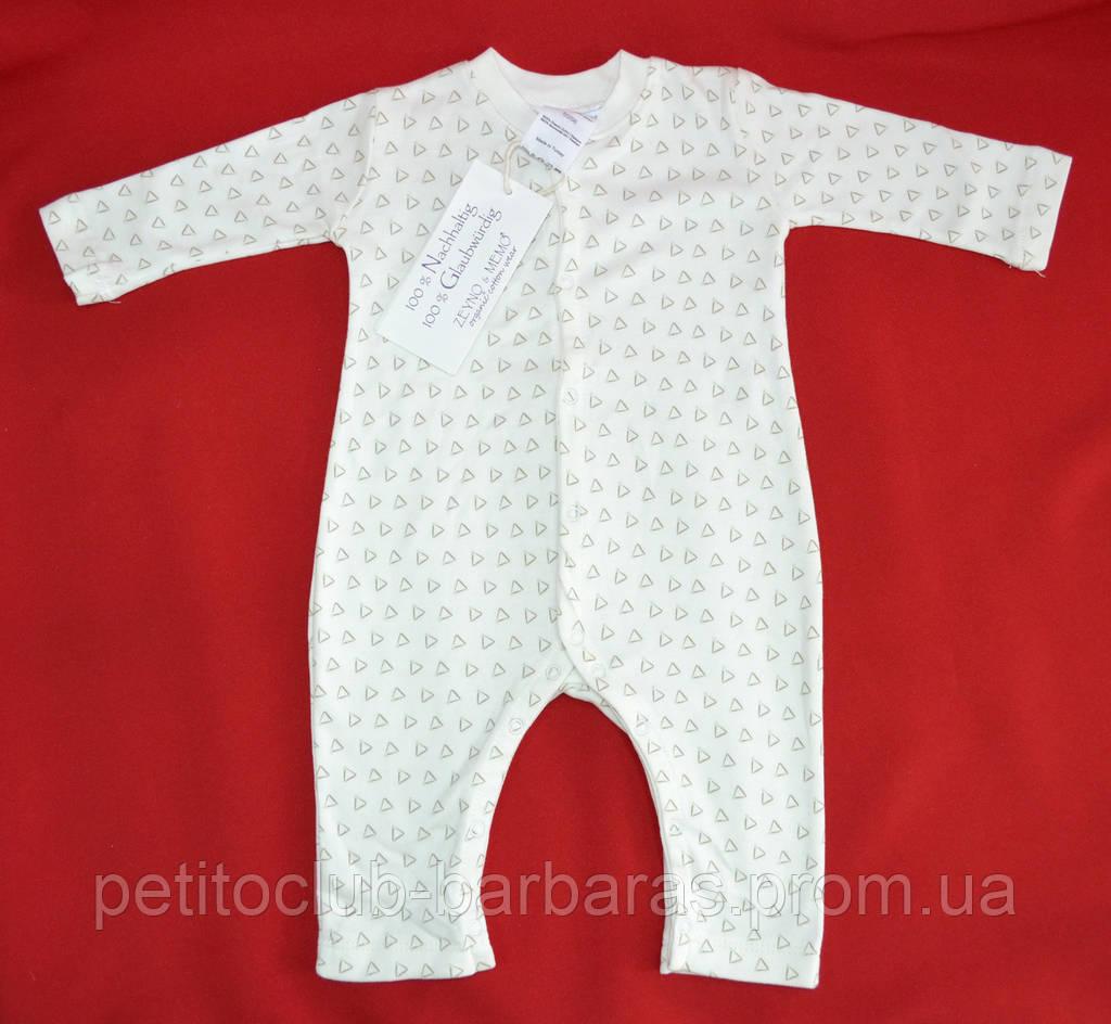 Комбинезон мятные треугольники (человечек с открытыми ножками) (Z&M, Турция)