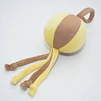 Игрушка для собак и котов Мячик плюш желтый