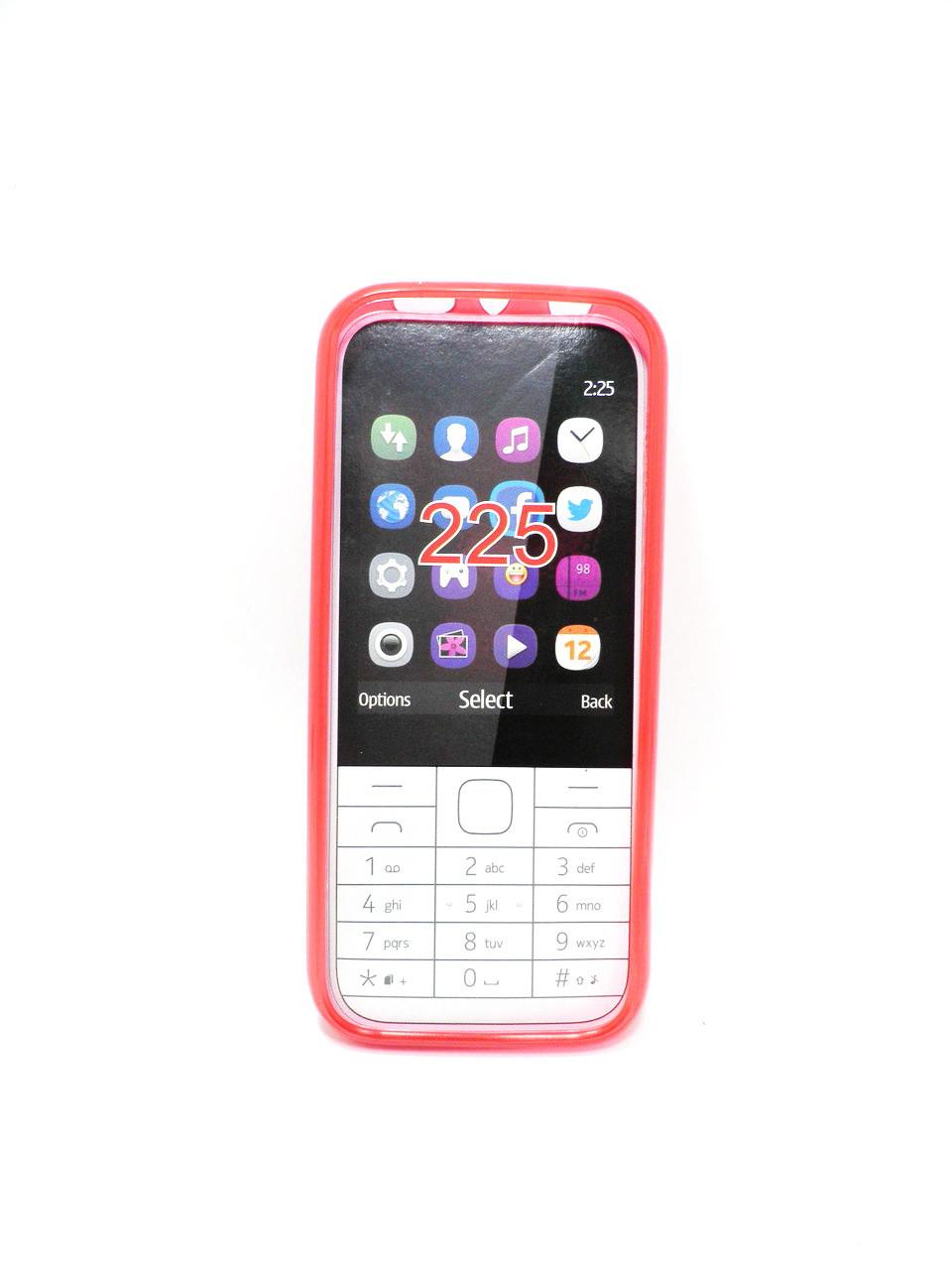 Накладка Nokia 225 ,,Силикон,, красная