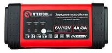 Автомобильное зарядное устройство для АКБ 6/12В 4/8А INTERTOOL AT-3018