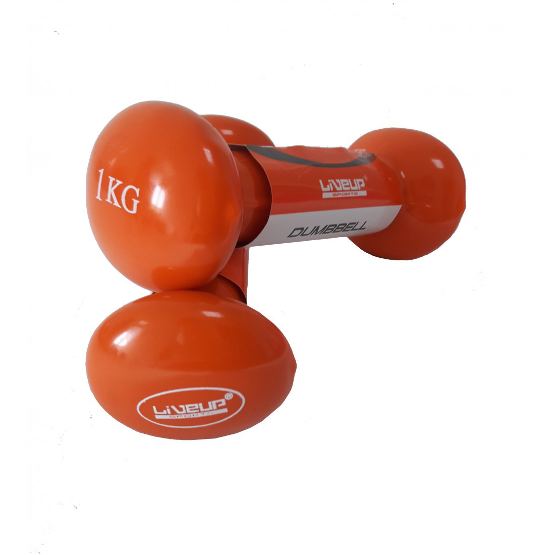 Гантели пара LiveUp Vinyl Dumbell Egg Head