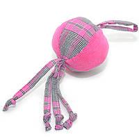 Игрушка для собак и котов Мячик клетка розовый