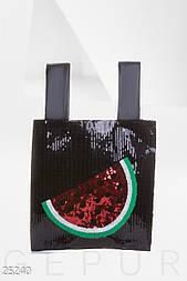 Оригинальная сумка шоппер с пайетками