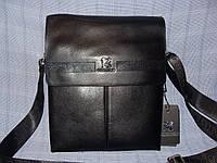 Мужская сумка Gorangd TP6682-5 черная формат А4 искусственная кожа с ремнем через плечо 26 см х 33 см х 8 см
