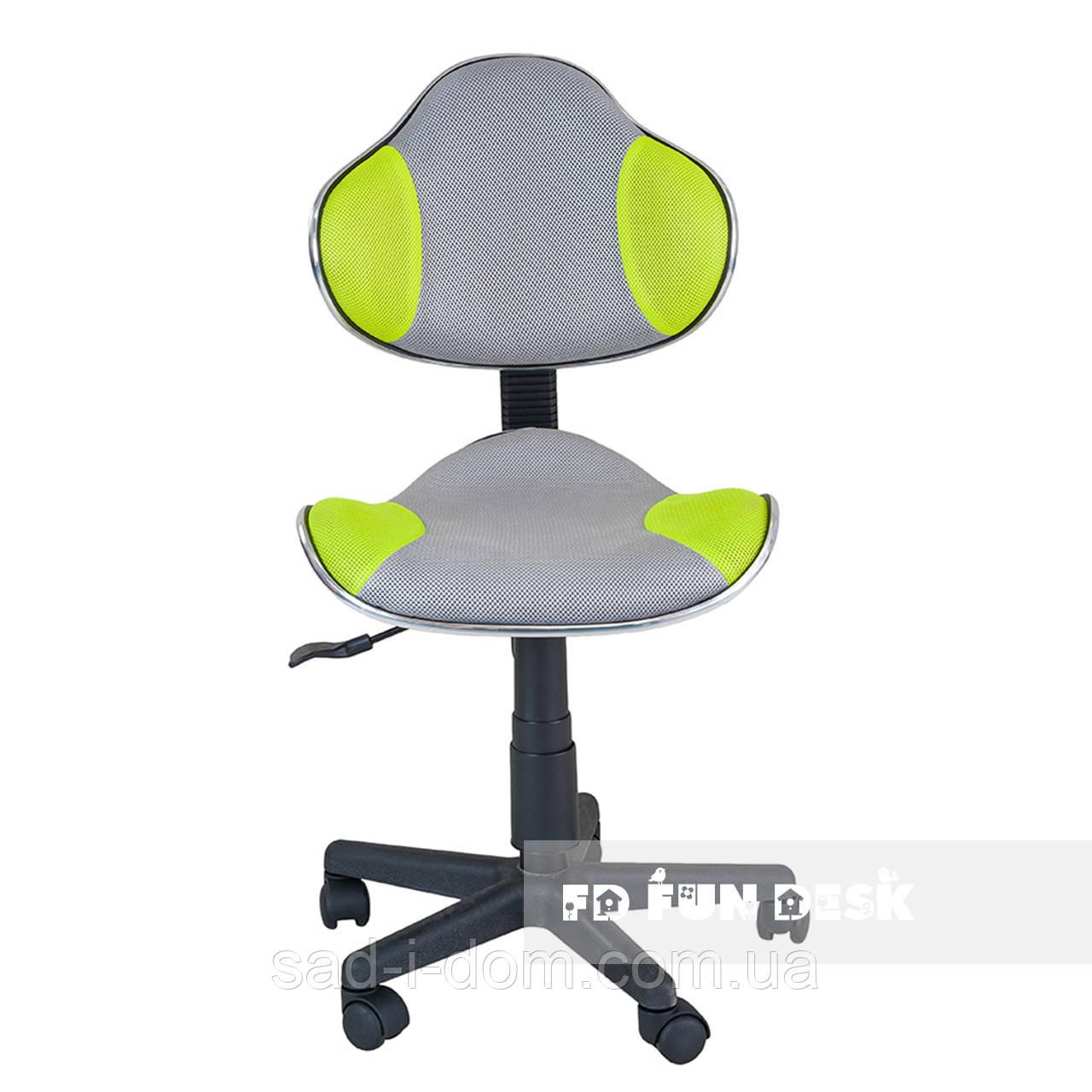 Детское компьютерное кресло FunDesk LST3, серо-зеленое