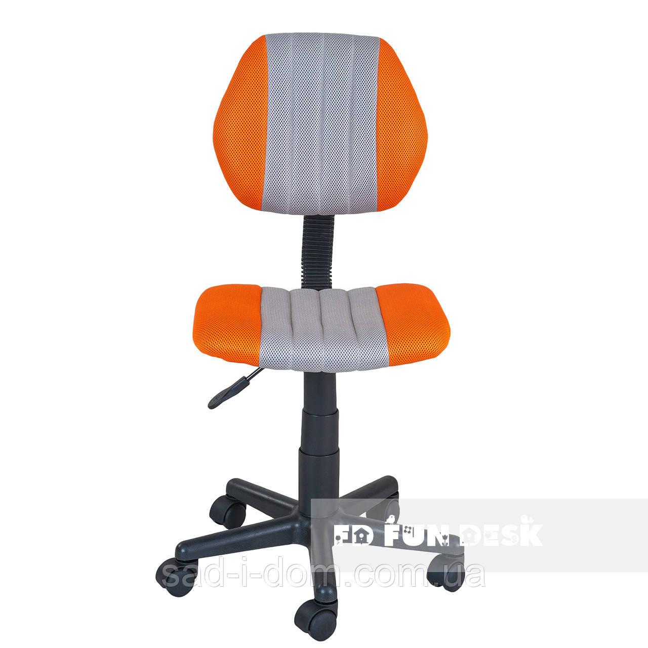 Детское компьютерное ортопедическое кресло FunDesk LST4 серо-оранжевое
