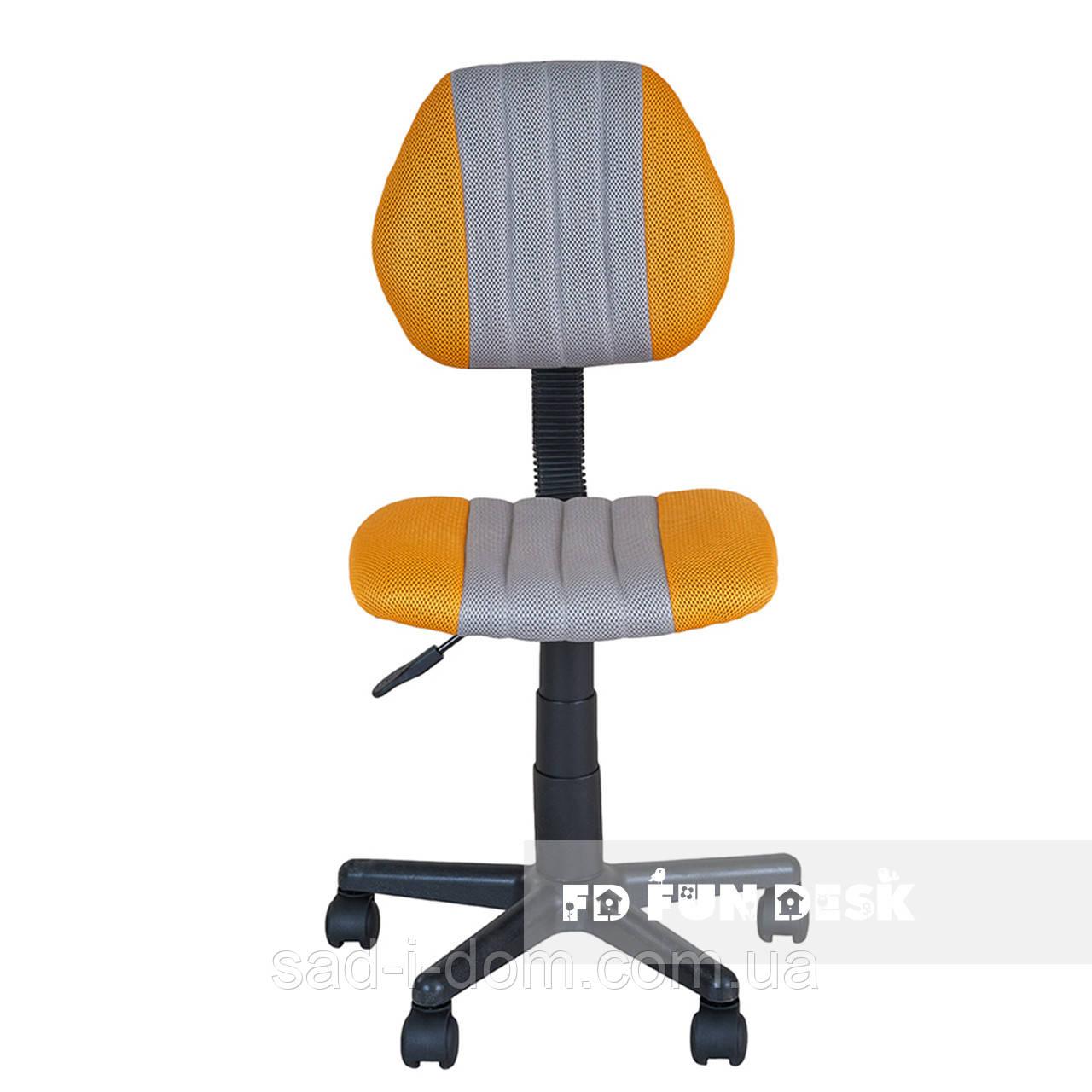 Детское ортопедическое кресло для школьника FunDesk LST4 серо-желтое