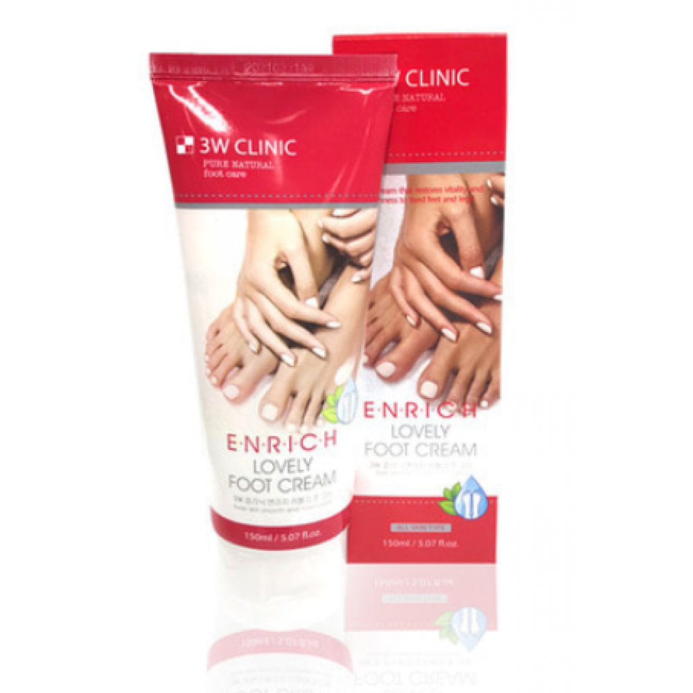 3W Clinic Крем для ног Enrich Lovely Foot Treatment 150ml