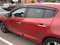 Дефлекторы окон (ветровики) Renault Megane 3 hatchback 5d (рено меган 3 2008+)
