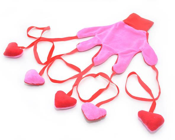 Игрушка для котов Рукавичка розовая, фото 2