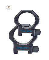 SPP02/B Кольця Contessa Picatinny Rings 30 мм, высота от планки до прицела 12 мм