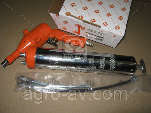 Шприц (DK-3920) для смазки пневматический <ДК> (ВИДЕО)