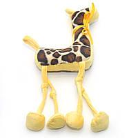 Мягкая игрушка Жираф для собаки желтая